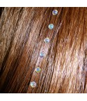 Strass cheveux opale