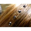 Strass cheveux noir métallisé