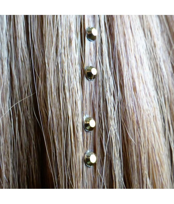 Strass cheveux gold métallisé