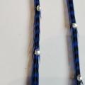 Rayée bleue roi et noire XXL à strass