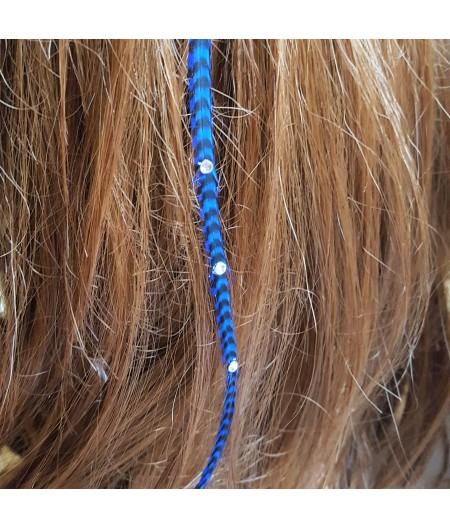 Rayée bleue roi et noire XL à strass