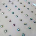 Strass cheveux opale métallisé