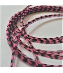 Rayée rose saumon L