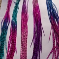 5 feathers tie n dye grizzly 25-32 cm