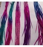 100 feathers tie n dye 25-32 cm