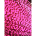Pluma rayada rosada fluo L