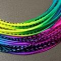 Lot 30 plumes multicolores (tie n dye) XL 24cm+