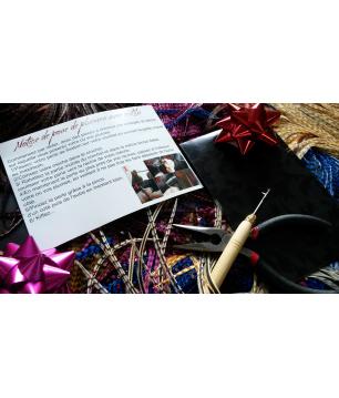 Pochette cadeau, outils et notice