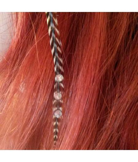 Rayée rouge et noire XL à strass