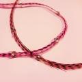 Rayée rose et noire XL à strass