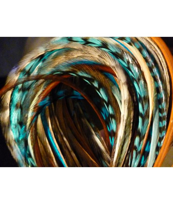 CLIP Assortiment Nature Turquoise XL